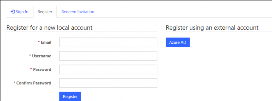 register for new account