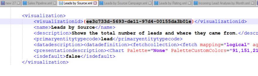 lead by source xml