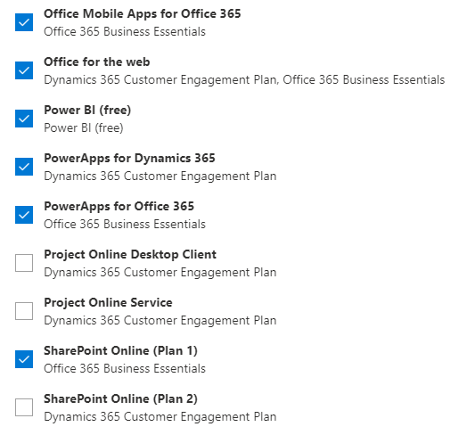 office 365 portal user licenses