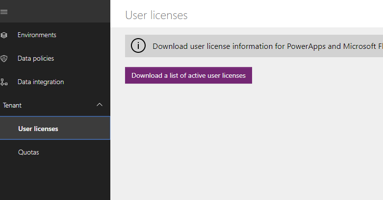 user licenses download